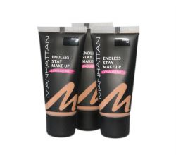 3 x Manhattan Endless Stay Make Up Foundation | 1 Shade | Beige 66